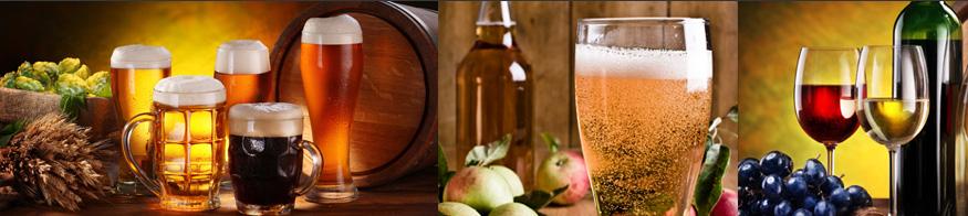 Les bières, les vins et les cidres de chez nous